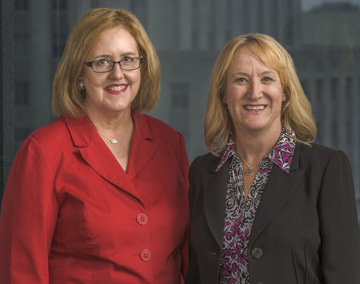 Becky Myers and Suzy Hartgrove